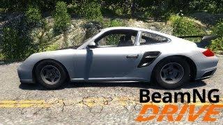 BeamNG DRIVE Alpha Version - Porsche 911 GT2 Test Drive and Crash