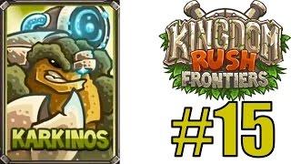 Прохождение KINGDOM RUSH FRONTIERS - TEMPLE OF SAQRA vs Новый герой KARKINOS [Veteran]