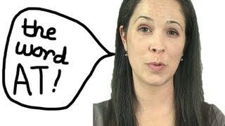 Reduction: the word AT -- American English Pronunciation