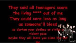 Teenagers My chemical Romance Lyrics (clean)