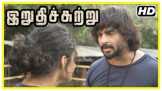 Irudhi Suttru Tamil Movie | Scenes | Madhavan invites Radha Ravi to see Ritika's boxing | Nasser