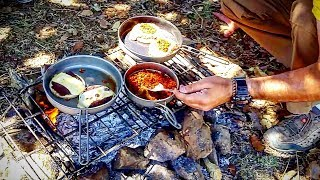 MEXICAN BREAKFAST CAMP COOKING - Keith TITANIUM ULTRALIGHT Cooking Gear - TEST And REVIEW