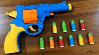 Realistic Toy Gun Sized 1:1 Scale .45 ACP Bulldog Revolver Toy - Rubber Bullet Toy Pistol