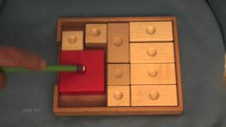 klotski 61 steps  -  using improved counting rules  :-)