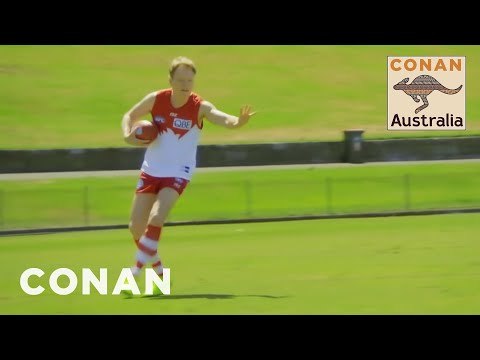 Conan Plays Australian Rules Football With The Sydney Swans CONAN on TBS