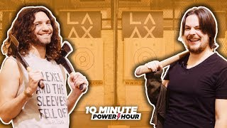 Axe Throwing CONTEST! - Ten Minute Power Hour