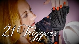 21 ASMR Triggers   Sounds Only No Talking   Brushing, Massage, Crinkles