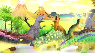T Rex Squishy funny Toys. Learn Dinosaurs with stress ball Stegosaurus Learning dinosaur Toy box 공룡