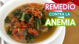 Delicioso Caldo de Frijoles con Acelgas - Remedio Casero para curar La Anemia