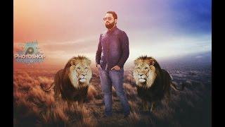 Pics art tutorial Lion design professional