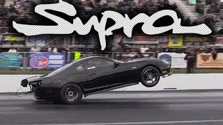 Epic Supra Wheelie, Drags the Bumper! This THING ROCKS!!