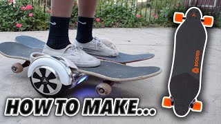 ATTEMPTING TO MAKE A BOOSTED BOARD (With a Hoverboard)