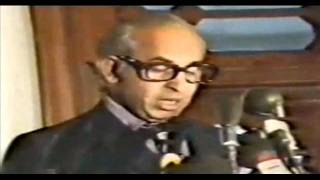 Zulfikar Ali Bhutto's speech in the honour of Col Gaddafi at PM Guest House on 26-02-1974.wmv
