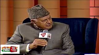 NC Chief and Former CM Farooq Abdullah full interview at Agenda Aaj Tak | UNT