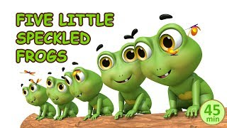 Five Little Speckled Frogs | Baby Songs | Nursery Rhymes Collection from jugnu kids