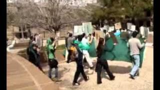 تجمع دانشجویان سبز دانشگاه تگزاس اِی اند اِم - 25 بهمن 1389