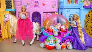Barbie New Coach & Horse, Disney Princess Kinder Surprise Eggs Überraschung Eier Telur kejutan