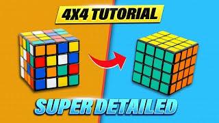 Easiest Tutorial: How to Solve the 4x4 Rubik's Cube (The Rubik's Revenge)