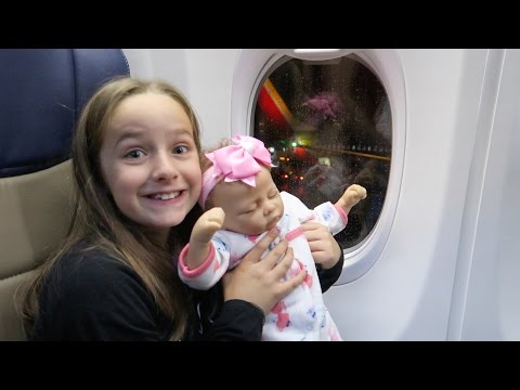 Reborn Dolls First Airplane Ride and Birthday Dress Reveal for Sophia Reborns