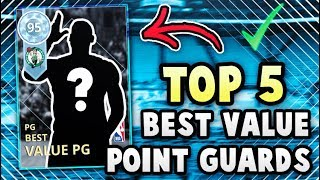 TOP 5 BEST VALUE POINT GUARDS in NBA 2K18 MyTEAM!!