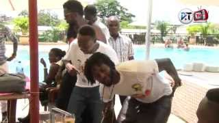 Liwin, Funny Face, Adebayor and Mr Ibu in a dance competition