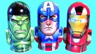 Marvel The Avngers Surprise Tin Hulk, Captain America Civil War, Iron Man Disney Toys Review