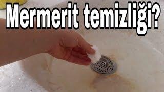 domestos mucizesi - mermerit lavabo temizliği en kolay usulde