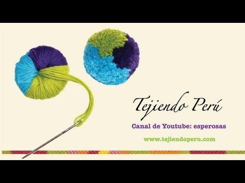 Pompones técnica básica Tejiendo Perú