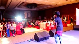 Noddy Khan singing at Royal marquee new Delhi
