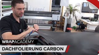 Dachfolierung mit Carbonfolie | Roof wrapping carbon