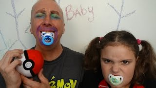 "Bad Baby Daddy vs Victoria Make Up Fail ""Toy Freaks Family Annabelle Hidden Egg"""