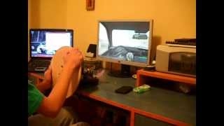 Testing Homemade prototyp steering wheel and pedals for PC