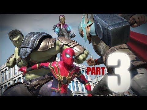 SPIDER MAN vs Hulk vs Thor vs Ironman vs Captain America Part3 3