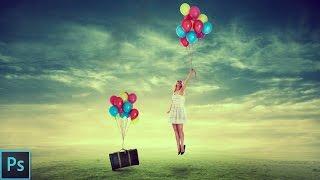 Flying Girl | Photo Manipulation - Photoshop Tutorial