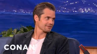 """Timothy Olyphant Has """"One Too Many"""" Children - CONAN on TBS"""