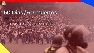 La Crisis en Venezuela ya suman 60 muertos, tras 60 días de guarimba (protestas)