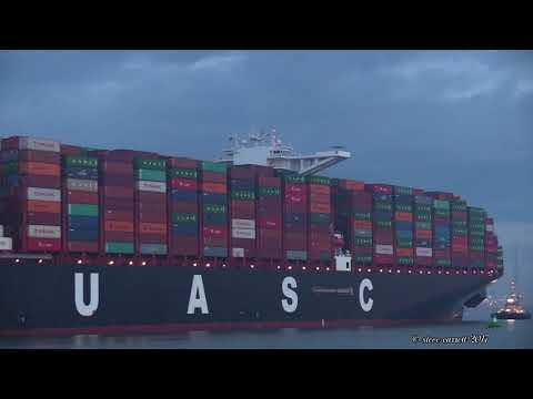 Xxx Mp4 TIHAMA UASC Container Ship Early Arrival Southampton Docks 15 8 17 3gp Sex