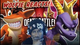 Wolfie Reacts: Crash vs Spyro | DEATH BATTLE - WereWoof Reaction