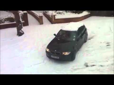 Xxx Mp4 BMW 1 Series In Snow Women Driver Leaves In Gear And Crashes 3gp Sex