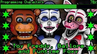 How will Toy Freddy, Funtime Foxy and Ballora work in Ultimate Custom Night?