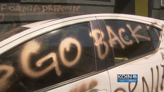 'Go back to CA': Couple's car, house vandalized