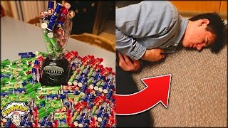 DRINKING 1000 WARHEADS CHALLENGE GOES TERRIBLY WRONG (I Could Have Died...) | David Vlas