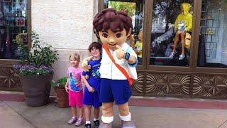 Grayson Danger Tasha Luna meet Go Diego Go Universal Studios Orlando