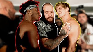 THE OFFICIAL KSI VS. LOGAN PAUL WEIGH INS...