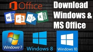 Download Windows 7 / 8.1 / 10 & MS Office Free from Microsoft without Product key