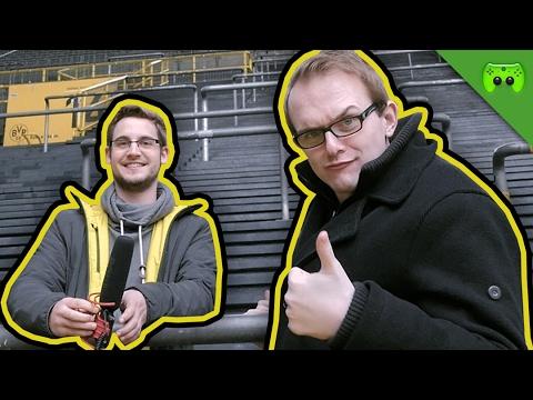 Jay und Sep in der Kabine vom BVB!