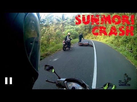 Kecelakaan motor All New honda CB150R saat sunmori (motorcycle accident) || SUNMORI CRASH