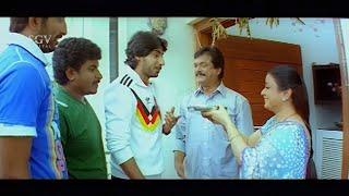 Bhavya emotional on son Prajwal Devaraj return from Foreign | Gokula Krishna Kannada Movie Scenes