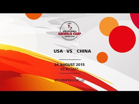 watch USA v China - FIVB Volleyball Women's World Cup Japan 2015