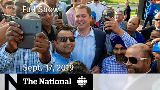 The National for Sept. 17, 2019 — Kaillie Humphries, Canada Votes, Lilly Singh